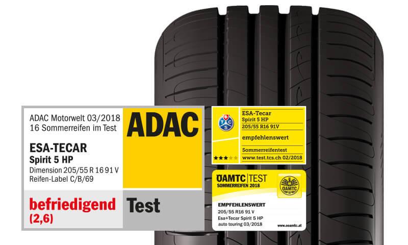 ESA+TECAR SPIRIT 5 HP ADAC Test